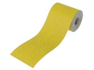 Aluminium Oxide Sanding Paper Roll Yellow 115mm x 5m 80g