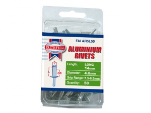 Aluminium Rivets 4.8mm x 14mm Long Pre-Pack of 50