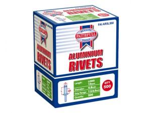 Aluminium Rivets 4.8mm x 14mm Long Bulk Pack of 500