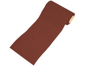 Aluminium Oxide Sanding Paper Roll Red 1m Hook & Loop Coarse
