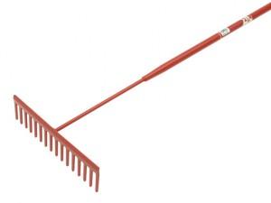 Asphalt Rake 16 Flat Teeth - Tubular Steel Shaft