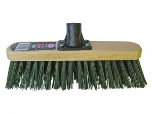 Broom Head Stiff Green 300mm (12in) Threaded Socket