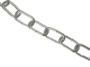 Zinc Plated Chain 6mm x 10m Box - Max Load 250kg