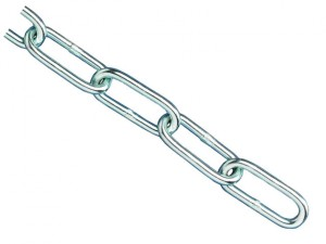 Zinc Plated Chain 2.5mm x 2.5m - Max Load 50kg