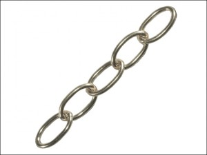 Oval Chain 1.8mm x 10m Chrome