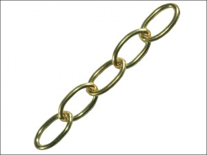 Oval Chain 2.3mm x 10m Polished Brass