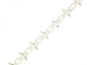 Plastic Chain 6mm x 12.5m White Spiked