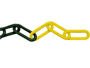Plastic Chain 8mm x 12.5m Yellow / Black