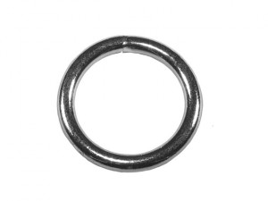 Zinc Plated Welded Rings 6mm (Pack of 4)