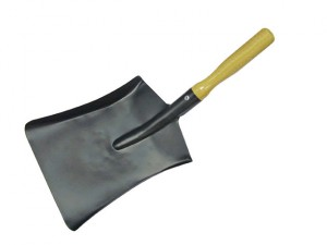 Coal Shovel Steel Wooden Handle 230mm