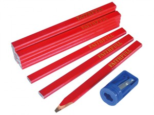 Carpenter's Pencils Tube (Tube of 12 + Sharpener)