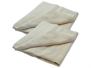 Cotton Twill Dust Sheet Twinpack 3.5 x 2.6m