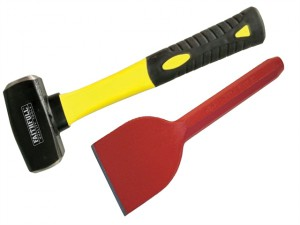 Club Hammer Fibreglass Handle 1.13kg (2.1/2lb) + Brick Bolster 75mm (3in)