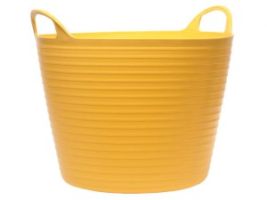 Heavy-Duty Polyethylene Flex Tub 60 litres Yellow