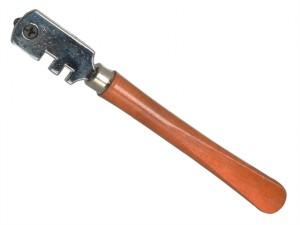 Six Wheel Glasscutter Tungsten Carbide - Wood Handle