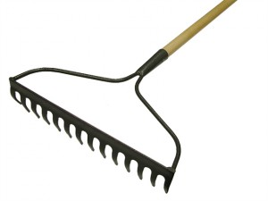 Garden Rake 14T Carbon Steel Ash Handle
