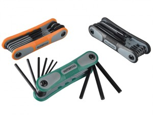3 Folding Hex Key Sets - A/F Met Torx