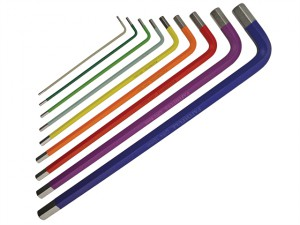 Long Arm Hex Key Set of 9 Metric