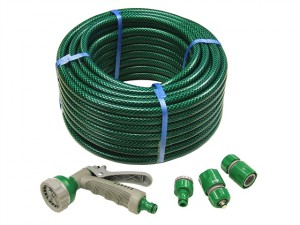 PVC Reinforced Hose 30m Fittings & Spray Gun
