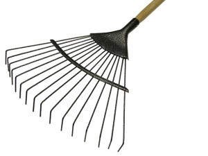 Lawn Rake 16T Carbon Steel Ash Handle