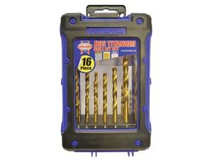 Titanium Drill Bit Set 16 Piece 1-8mm