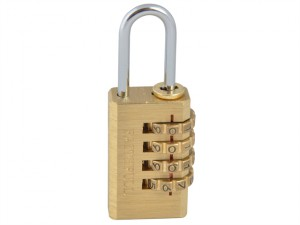 Brass Combination Padlock 20mm