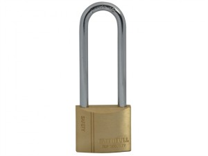 Brass Padlock 40mm Long Shackle 3 Keys