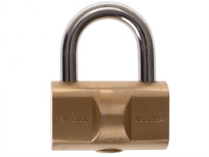 Goldbar Brass Padlock 32mm