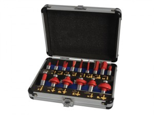 Router Bit Set of 15 TCT 1/2in Shank