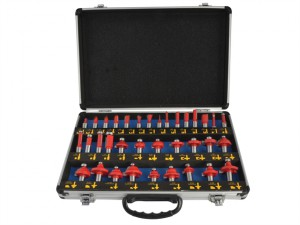 Router Bit Set of 35 TCT 1/2in Shank