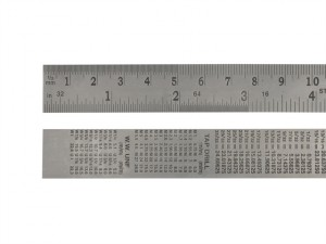 Steel Rule 150mm / 6in x 19mm