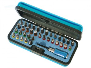 Screwdriver Bit Set in Metal Case 37 Piece