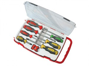 Soft Grip Screwdriver Set of 8 SL/PH/PZ