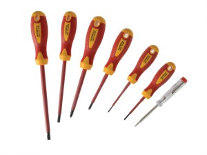 VDE Soft Grip Screwdriver Set of 7 SL/PZ/Tester