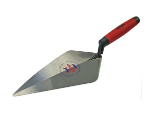 London Pattern Forged Brick Trowel Soft Grip Handle 11in