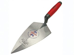 Philadelphia Pattern Solid Forged Brick Trowel Soft-Grip Handle 10in