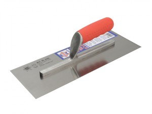 Plasterer's Carbon Finishing Trowel Soft Grip Handle 13 x 4.3/4in