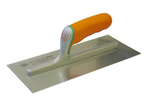 Plasterer's Finishing Trowel Stainless Soft Grip Handle 11 x 4.3/4in