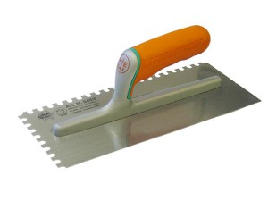 Adhesive Trowel Serrated Edge 8mm Soft Grip Handle 11 x 4.3/4 in