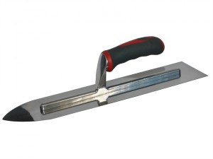 Flooring Trowel Stainless Steel Soft Grip Handle 16 x 4in