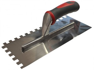Notched Trowel Serrated 10mm Stainless Steel Soft-Grip Handle 13 x 4.1/2in