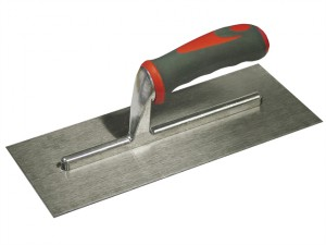 Plasterer's Finishing Trowel Stainless Steel Soft Grip Handle 11 x 4.3/4in