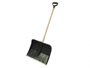 Heavy-Duty Plastic Snow Shovel Cw Handle