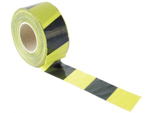 Barrier Tape 70mm x 500m Black & Yellow