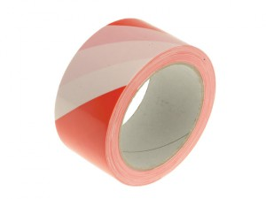 Hazard Warning Safety Tape 50mm x 33m Red & White