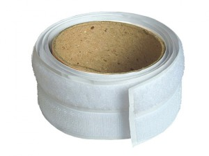 Hook & Loop Self-Adhesive Tape 20mm x 1m White