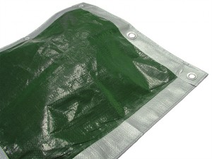 Tarpaulin Green/ Silver Heavy-Duty 5.4 x 5.4m (18 x 18ft)