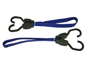 Flat Bungee Cord 46cm (18in) Blue 2 Piece