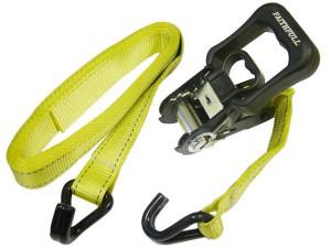 Ratchet Tie-Downs J Hook 5m x 32mm Breaking Strain 1320kg/daN 2 Piece