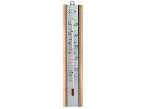 Thermometer Wall Beech Silver 200mm